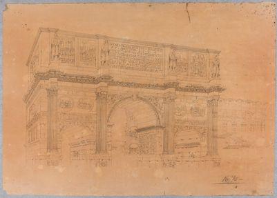 Arco di Costantino, visto da nord-ovest