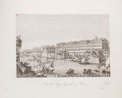 Porto di Ripa Grande, veduta generale da levante