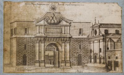 Porta Flaminia, prospetto dall'interno