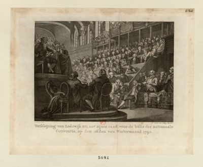 Verschijning van Lodewijk XVI , met zijnen Raad ad voor de balie der Nationaale Conventie [estampe]