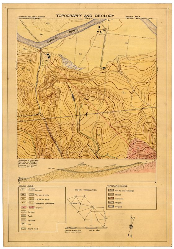 Snively area : topography and geology