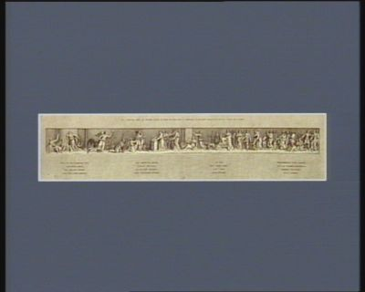 II.de frise de l'arc de triomphe élevé au Champ de Mars pour la Fedération du XIV juillet MDCCXC du coté de l'autel de la patrie présenté a l'Assemblée nationale : [estampe]