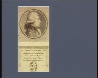Jean Meechior [sic] Dabadye capitaine au corps royal du génie né a Castelnau de Mognoac député des quatre vallées à l'Assemblée nationale de 1789 : [estampe]