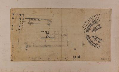 Foro Romano, pianta Colosseo e basilica di Costantino