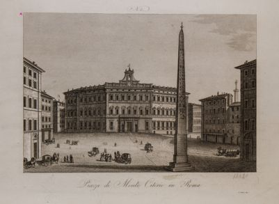 Piazza Monte Citorio, veduta verso mezzogiorno