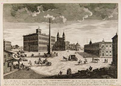 Piazza di S. Giovanni in Laterano, veduta da nord ovest