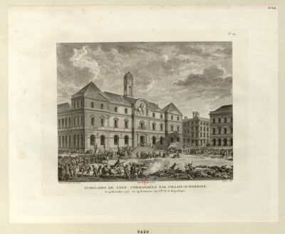 Fusillades de Lyon, commandées par Collot-d'Herbois le 14 Décembre 1793, ou 24 Frimaire An 2.eme de la République : [estampe]
