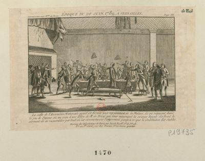 Epoque du <em>20</em> juin <em>1789</em>, Versailles [estampe]