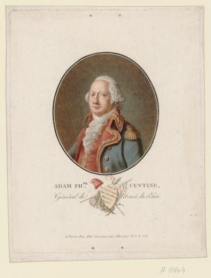 Adam Ph.pe Custine général de l'armée du Rhin [estampe]