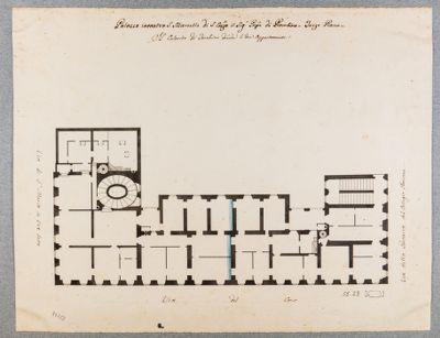 Palazzo Piombino a S. Marcello. Pianta, terzo piano