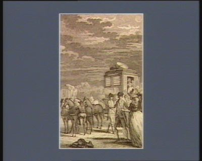 [Départ du Comte d'Artois et de la duchesse de Polignac] [estampe]