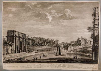Veduta degli archi di Costantino e di Tito