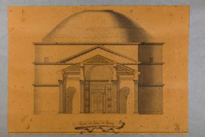 Profilo del portico del Panteon