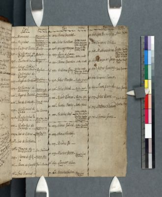 Cambridge, Corpus Christi College, MS 487: Brock Rand, Material Relating to the Diocese of Ely