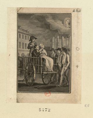 [Marie-Antoinette conduite à l'échafaud] [estampe]