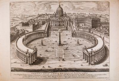 Veduta dell'ampia Basilica Vaticana