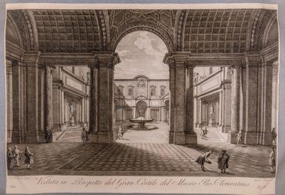 Palazzo Vaticano. Cortile ottagono del museo Pio Clementino