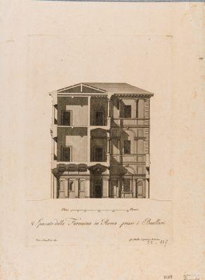 Palazzo della Farnesina ai Baullari, spaccato