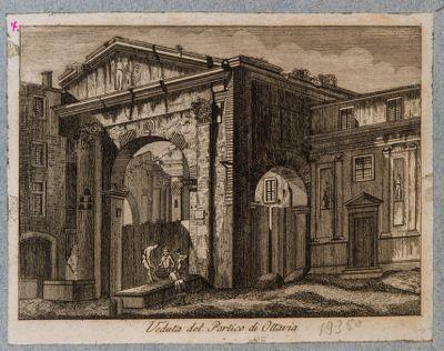 Veduta del portico d'Ottavia