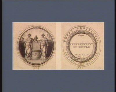 Corps legislatif Conseil des Anciens, representant du peuple : membre du comité d'inspection : [estampe]