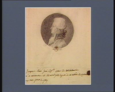 Jacques René Jean Baptiste Artur de La Villarmois né à Avranches le 22 avril 1748 député de la noblesse du Cotentin... aux Etats g.aux de 1789 : [dessin]