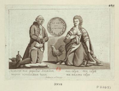 Miserere mei, populus secundum magnam misericordiam tuam mea culpa... mea culpa mea maxima culpa : penitence du 25 juin 1791 : [estampe]
