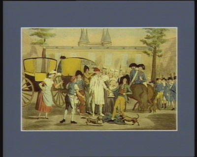 Louis le dernier et sa famille conduits au Temple le 13 aoust 1792 [estampe]