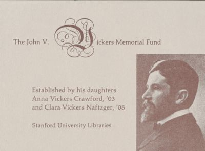 The John V. Vickers Memorial Fund