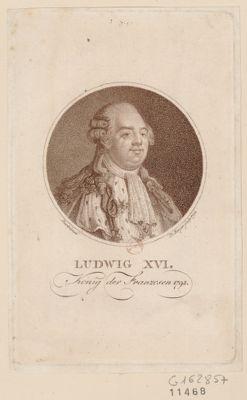 Ludwig XVI Konig der Franzosen 1792 : [estampe]
