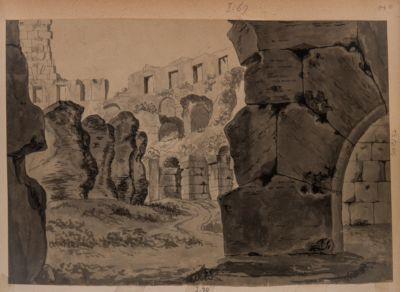 Colosseo, interno. Vista di un ambulacro