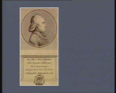 M. de Coulmiers abbé regulier d'Abbecourt né à Dijon en 1741 député de la vic.té de Paris à l'Assemblée nationale de 1789 : [estampe]