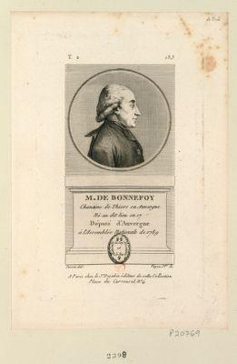 M. de Bonnefoy chanoine de Thiers en Auvergne né au dit lieu en 17[..] d'Auvergne à l'Assembléenationale de 1789 : [estampe]