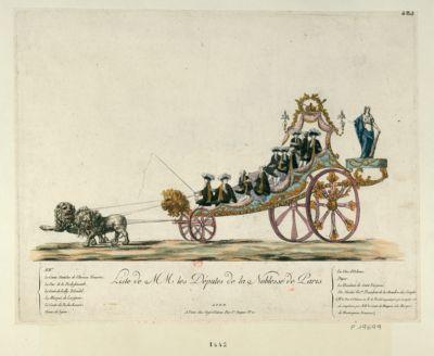 Liste de MM les députés de la Noblesse de Paris [estampe]