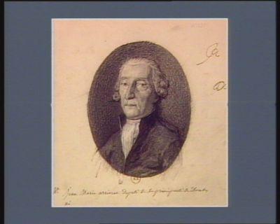 M. Jean Marie arriveur Deputé de la principauté des Dombes né : [dessin]