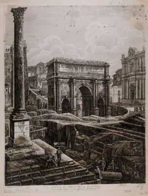 Arco di Settimio Severo, prospetto verso mezzogiorno