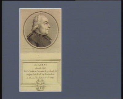 M. Aubry curé de Véel né <em>à</em> St Aubin en Lorraine le 17 avril 1736 député du bail.e de Bar-le-Duc <em>à</em> l'Assemblée nationale de 1789 : [estampe]