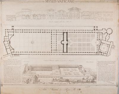 Museo Vaticano. Pianta generale, 1822