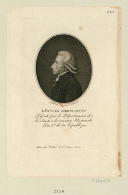 Em[m]anuel Joseph Sieyes deputé par le département de la Sarte a la Convent. nationale l'an 1.er de la République : [estampe]