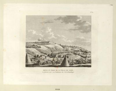 Siége et prise de la Ville de Lyon le 9 Octobre 1793, ou 17 Vendemiaire An 2.<em>e</em> de la République : [estampe]