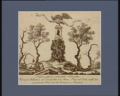 Sieben geheim verborgene Silhouetten Franz II, Wilhelm II, die Churfürsten von Mainz, Trier und Coeln, nebst dem unglücklichen Köng und der Königin von Frankreich [estampe]