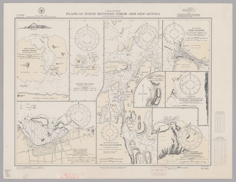 Eastern Archipelago. Plans of Ports between Timor and New Guinea