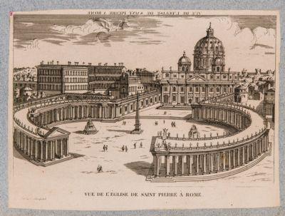 Vue de l'Eglise de Saint Pierre a Rome