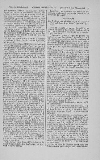 Tome 3 : 1789 – États généraux. Cahiers des sénéchaussées et baillages [Colmar et Schelestadt - Metz] - page 3