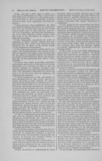 Tome 3 : 1789 – États généraux. Cahiers des sénéchaussées et baillages [Colmar et Schelestadt - Metz] - page 6