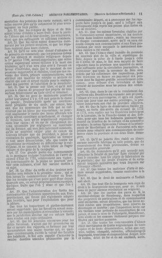 Tome 3 : 1789 – États généraux. Cahiers des sénéchaussées et baillages [Colmar et Schelestadt - Metz] - page 11