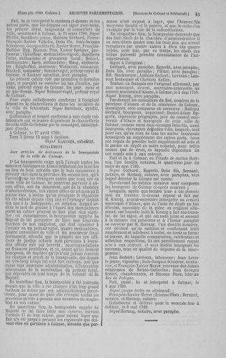 Tome 3 : 1789 – États généraux. Cahiers des sénéchaussées et baillages [Colmar et Schelestadt - Metz] - page 15