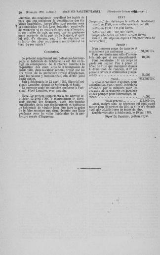 Tome 3 : 1789 – États généraux. Cahiers des sénéchaussées et baillages [Colmar et Schelestadt - Metz] - page 20
