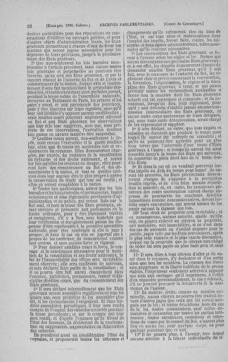Tome 3 : 1789 – États généraux. Cahiers des sénéchaussées et baillages [Colmar et Schelestadt - Metz] - page 22