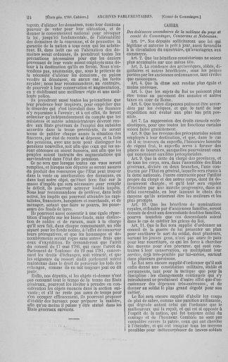 Tome 3 : 1789 – États généraux. Cahiers des sénéchaussées et baillages [Colmar et Schelestadt - Metz] - page 24