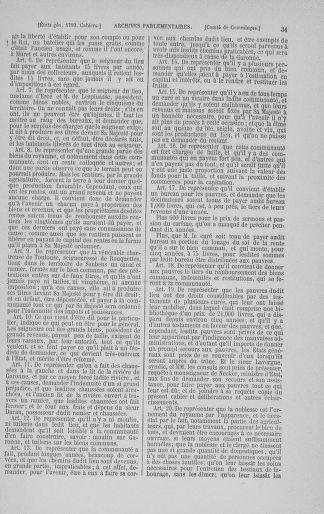 Tome 3 : 1789 – États généraux. Cahiers des sénéchaussées et baillages [Colmar et Schelestadt - Metz] - page 31